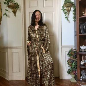 Golden Geometric Victoria's Secret Robe